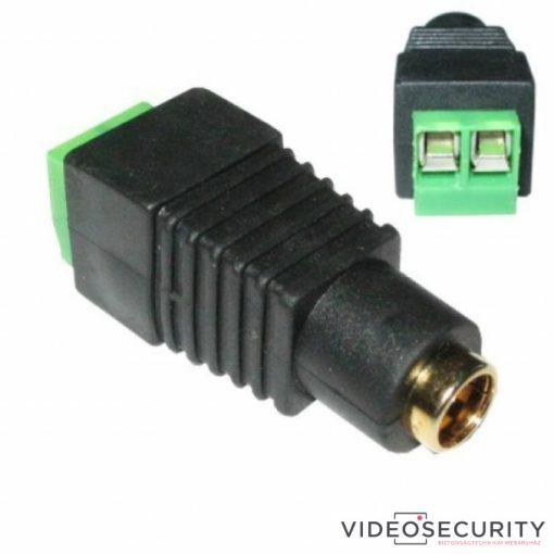 Nestron AP008-F DC tápcsatlakozó dugó aljzat; 2.1/5.5 mm; anya