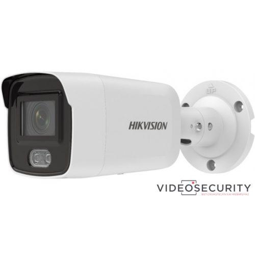 Hikvision DS-2CD2027G2-LU (4mm) 2 MP WDR fix ColorVu AcuSense IP csőkamera; láthatófény; beépített mikrofon