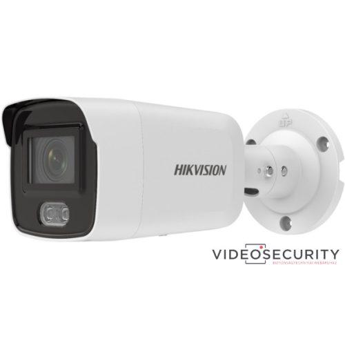 Hikvision DS-2CD2047G2-LU (4mm) 4 MP WDR fix ColorVu AcuSense IP csőkamera; láthatófény; beépített mikrofon