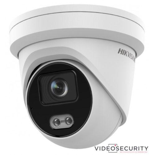 Hikvision DS-2CD2327G2-LU (4mm) 2 MP WDR fix ColorVu AcuSense IP dómkamera; láthatófény; beépített mikrofon