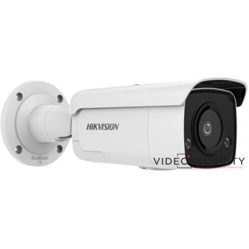 Hikvision DS-2CD2T46G2-ISU/SL (2.8mm) 5MP@20fps/4MP@25fps AcuSense WDR fix EXIR IP csőkamera mikrofon fény/hangriasztás riasztás I/O
