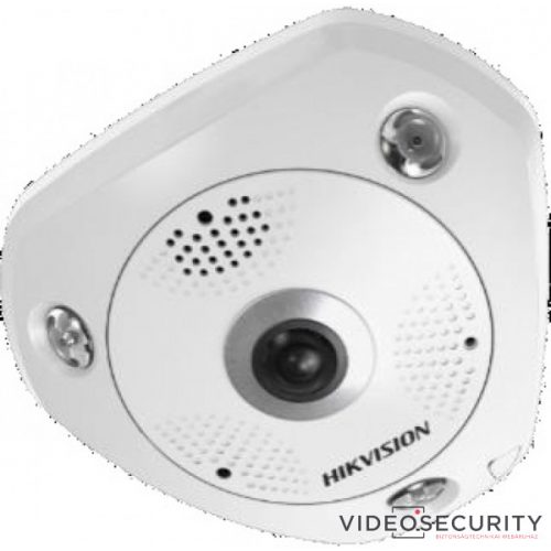 Hikvision DS-2CD63C5G0-IS (1.29mm) 12 MP 360° IR Smart IP panorámakamera hang és riasztás be- és kimenet