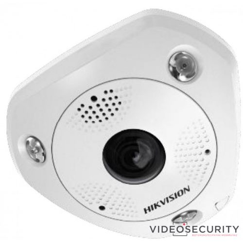 Hikvision DS-2CD63C5G0-IVS (1.29mm) 12 MP 360° vandálb. IR Smart IP panorámakamera; hang/riasztás be-/kimenet; mik./hangsz.; ImmerVision