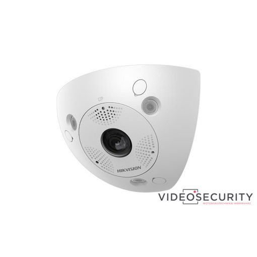 Hikvision DS-2CD6W32FWD-IVS (2mm) 3 MP vandálbiztos WDR IR Smart IP sarok-panorámakamera; hang be- és kimenet