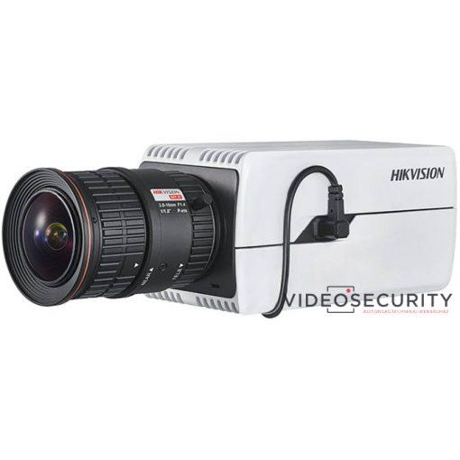 Hikvision DS-2CD7026G0/P-AP 2 MP DeepinView rendszámolvasó IP WDR DarkFighter boxkamera; hang be- és kimenet; P-írisz