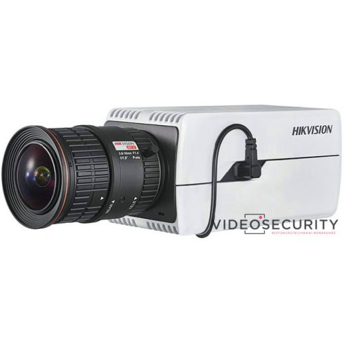 Hikvision DS-2CD7085G0-AP 8 MP DeepinView IP WDR DarkFighter boxkamera hang be- és kimenet P-írisz
