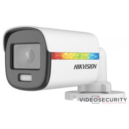 Hikvision DS-2CE10DF8T-F (2.8mm) 2 MP ColorVu THD WDR fix csőkamera OSD menüvel villogó fény riasztás