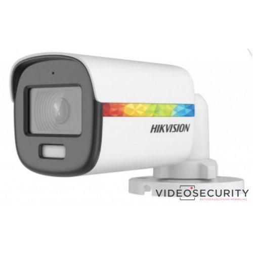 Hikvision DS-2CE10DF8T-PFSLN (2.8mm) 2 MP ColorVu THD WDR fix csőkamera; fény riasztás; beépített mikrofon; koax audio