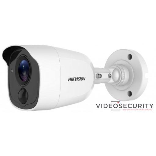 Hikvision DS-2CE11D0T-PIRLPO (3.6mm) 2 MP THD fix EXIR csőkamera; OSD menüvel; PIR mozgásérzékelővel; riasztás kimenet