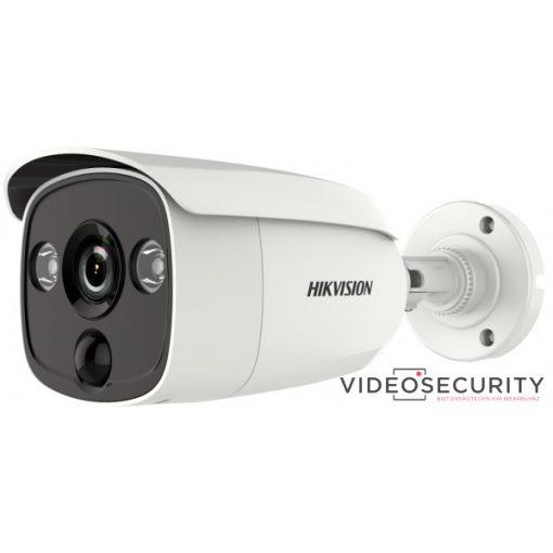 Hikvision DS-2CE12D8T-PIRLO (2.8mm) 2 MP THD WDR fix EXIR csőkamera; OSD menüvel; PIR mozgásérzékelővel; riasztás kimenet