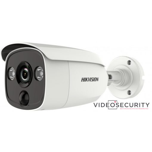 Hikvision DS-2CE12H0T-PIRLO (2.8mm) 5 MP THD fix EXIR csőkamera; OSD menüvel; PIR mozgásérzékelővel; riasztás kimenet