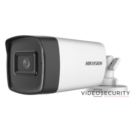 Hikvision DS-2CE17H0T-IT3FS (2.8mm) 5 MP THD fix EXIR csőkamera; OSD menüvel; TVI/AHD/CVI/CVBS kimenet; beépített mikrofon; koax audio