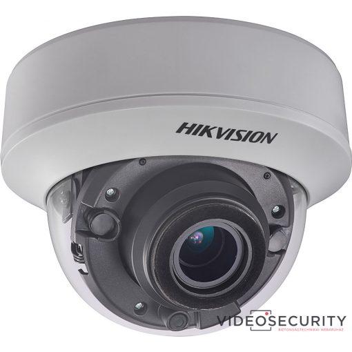 Hikvision DS-2CE56F7T-AITZ (2.8-12mm) 3 MP THD WDR motoros zoom EXIR dómkamera; OSD menüvel
