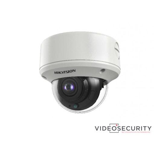 Hikvision DS-2CE59H8T-AVPIT3ZF(2.7-13.5) 5 MP THD vandálbiztos motoros zoom EXIR dómkamera; OSD menüvel; TVI/AHD/CVI/CVBS kimenet