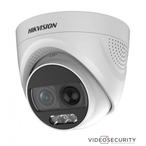 Hikvision DS-2CE72DFT-PIRXOF (6mm) 2 MP ColorVu THD PIR WDR fix dómkamera OSD menüvel sziréna riasztás kimenet