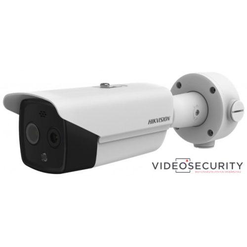Hikvision DS-2TD2617-6/PAI IP hő- (160x120) 25°x19° és láthatófény (4 MP) kamera ±8°C -20°C-150°C villogó fény/hangriasztás