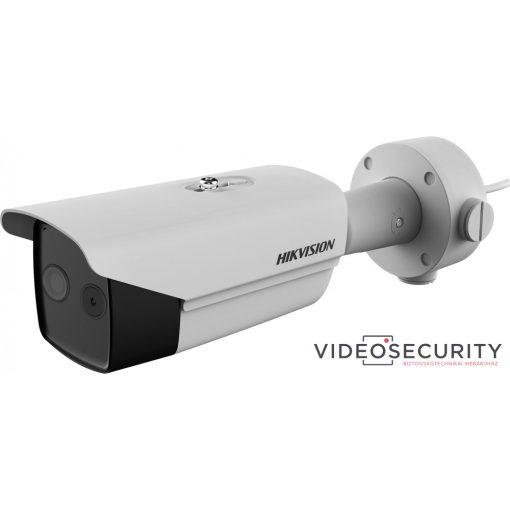 Hikvision DS-2TD2617-6/V1 IP hő- (160x120) 25°x19° és láthatófény (2 MP) 53°x30° kamera; ±8°C; -20°C-150°C