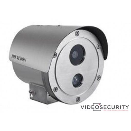 Hikvision DS-2XE6222F-IS (6mm) 2 MP WDR robbanásbiztos EXIR fix IP csőkamera; hang be- és kimenet