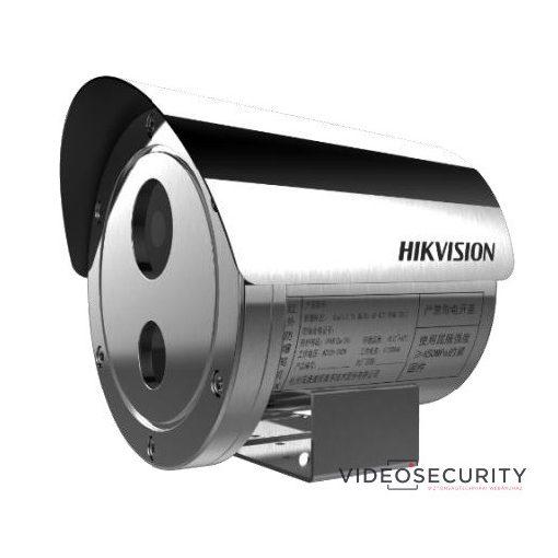 Hikvision DS-2XE6242F-IS (4mm)/316L 4 MP WDR robbanásbiztos EXIR fix IP csőkamera; hang be- és kimenet; korrózióálló kivitel