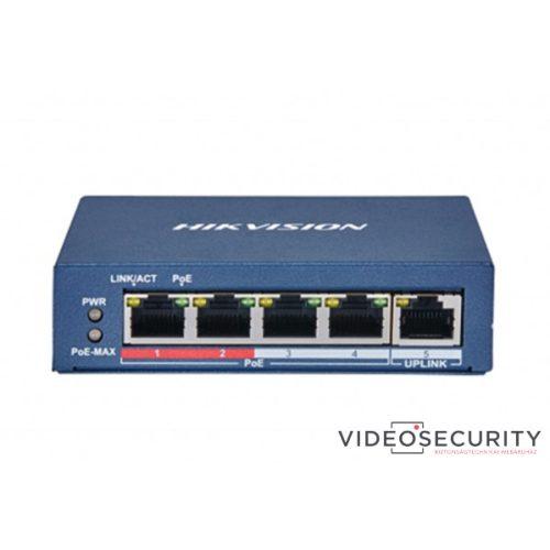 Hikvision DS-3E0105P-E (B) 5 portos PoE switch (60 W) 4 PoE + 1 uplink port nem menedzselhető