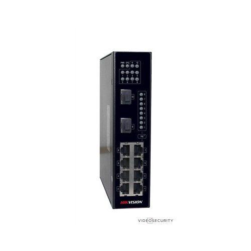 Hikvision DS-3T0310P 10 portos ipari PoE switch (240 W) 8 PoE + 2 SFP uplink port nem menedzselhető