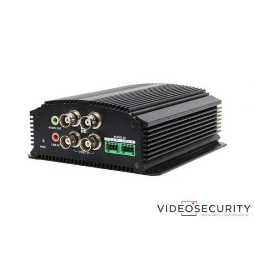 Hikvision DS-6704HUHI 4 csatornás enkóder; 5MP@12fps; 4MP@15fps; 1080p@25fps