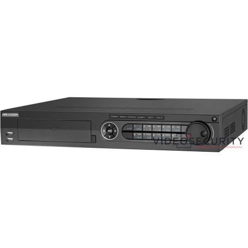 Hikvision DS-7308HUHI-K4 8 csatornás THD DVR; 8MP@8fps; 5MP@12fps, 4MP@15fps; 1080p@25fps; max.16×8MP IP;riasztás be-/kimenet