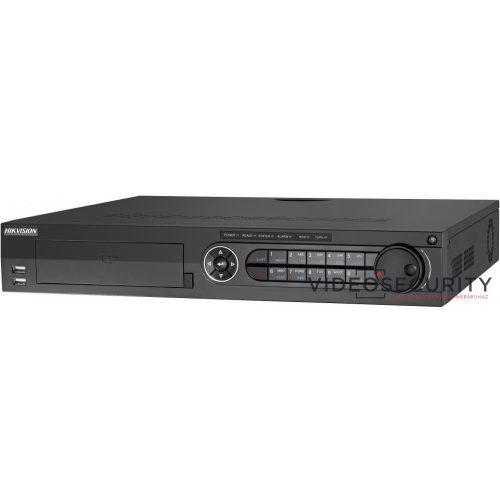 Hikvision DS-7324HQHI-K4 24 csatornás THD DVR; 4MP lite@15fps;1080p lite@25fps,1080p@15fps;max.40×6MP IP;riasztás be-/kimenet