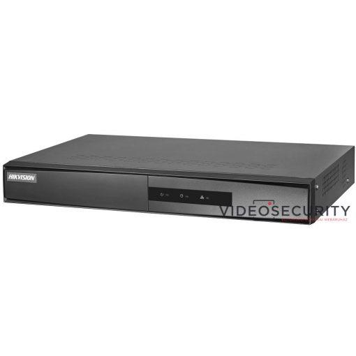 Hikvision DS-7604NI-K1/4P/A (B) 4 csatornás PoE NVR; 40/80 Mbps be-/kimeneti sávszélesség; riasztás be-/kimenet