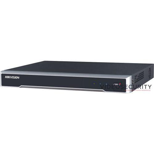 Hikvision DS-7616NI-K2/16P 16 csatornás PoE NVR 160/160 Mbps be-/kimeneti sávszélesség riasztás be-/kimenet