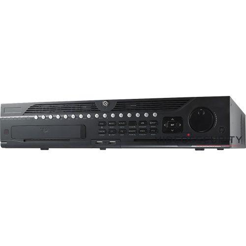 Hikvision DS-9632NI-I8 32 csatornás NVR; 320/256 (RAID: 200/200) Mbps be-/kimeneti sávszélesség; riasztás be-/kimenet