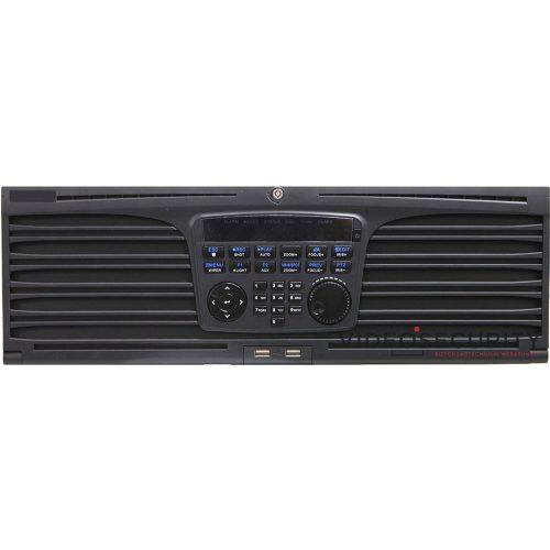 Hikvision DS-9664NI-I16 64 csatornás NVR 320/256 (RAID: 200/200) Mbps be-/kimeneti sávszélesség riasztás be-/kimenet