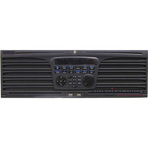 Hikvision DS-9664NI-I16 64 csatornás NVR; 320/256 (RAID: 200/200) Mbps be-/kimeneti sávszélesség; riasztás be-/kimenet
