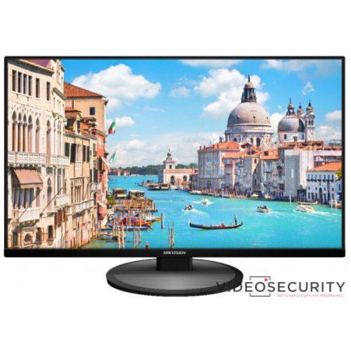 """Hikvision DS-D5027UC 27"""" LED monitor 178° betekintési szög UHD felbontás 24/7 működés HDMI, VGA, DP"""