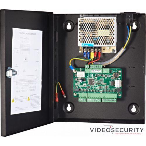 Hikvision DS-K2801 Ajtóvezérlő 1 ajtóhoz két irány 2 Wiegand olvasó 1 eseménybemenet 1 riasztási relé kimenet