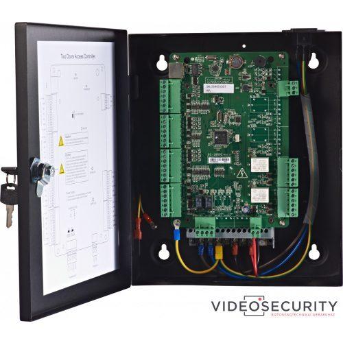 Hikvision DS-K2802 Ajtóvezérlő 2 ajtóhoz két irány 4 Wiegand olvasó 2 esemény bemenet és 2 riasztási relé kimenet
