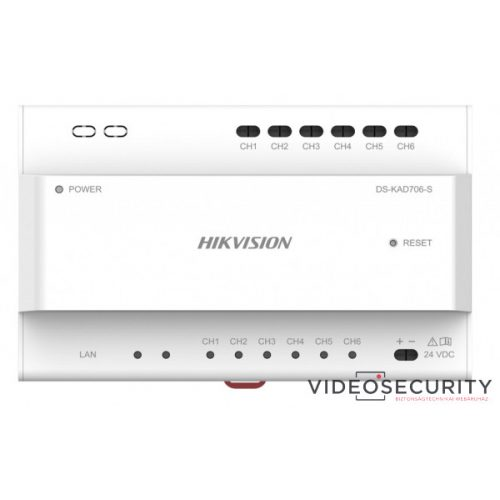 Hikvision DS-KAD706-S Disztribútor soroló egység 2 vezetékes IP kaputelefon-rendszerhez