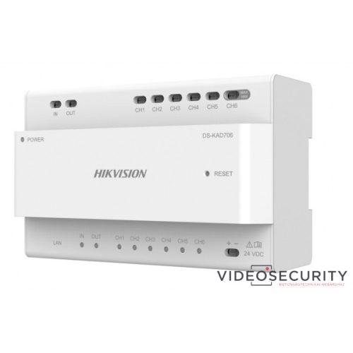 Hikvision DS-KAD706 Disztribútor egység 2 vezetékes IP kaputelefon-rendszerhez