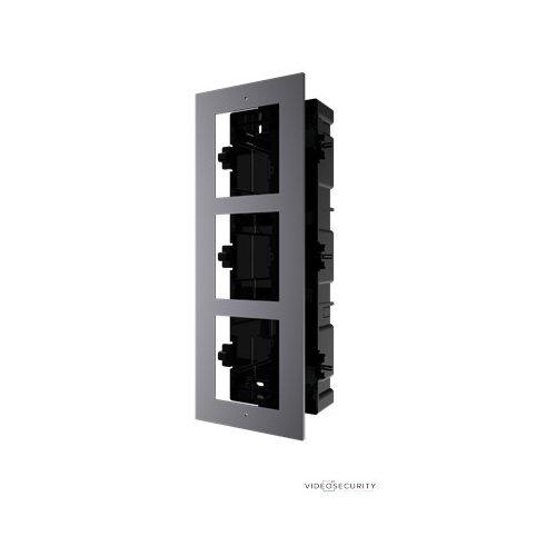Hikvision DS-KD-ACF3 Társasházi IP video-kaputelefon szerelőkeret süllyesztéshez; 3 modulos verzió
