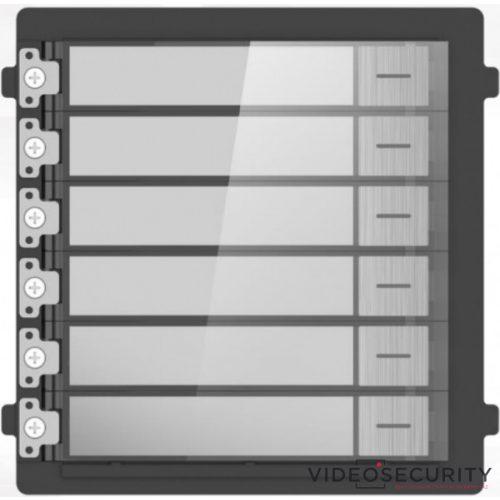 Hikvision DS-KD-KK/S Társasházi IP video-kaputelefon kültéri 6 lakásos modulegység rozsdamentes acél