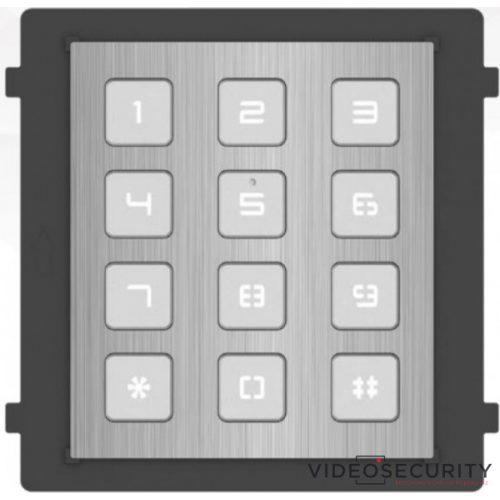 Hikvision DS-KD-KP/S Társasházi IP video-kaputelefon kültéri billentyűzet/tasztatúra modulegység rozsdamentes acél