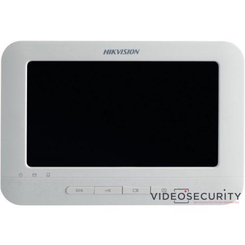 """Hikvision DS-KH6210-L IP video-kaputelefon beltéri egység 7"""" LCD kijelző 800x480 felbontás"""
