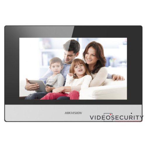 """Hikvision DS-KH6320-WTE2 (Europe BV) IP video-kaputelefon beltéri egység; 7"""" LCD kijelző; 1024x600 felbontás; WiFi; 2 vezetékes"""