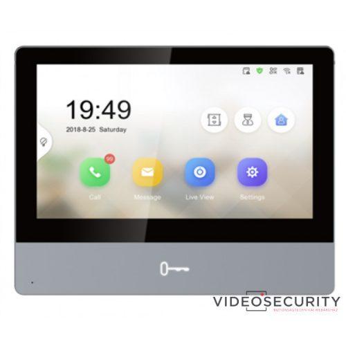 """Hikvision DS-KH8350-TE1 IP video-kaputelefon beltéri egység; 7"""" LCD kijelző; 1024x600 felbontás; PoE"""