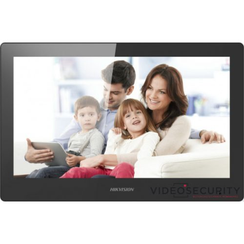 "Hikvision DS-KH8520-WTE1 (Europe BV) IP video-kaputelefon beltéri egység 10"" LCD kijelző 1024x600 felbontás WiFi 48 V PoE"
