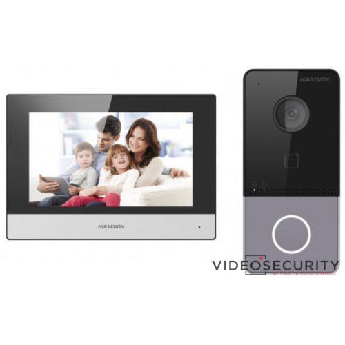 Hikvision DS-KIS603-P Egylakásos IP video-kaputelefon szett DS-KV6113-WPE1 + DS-KH6320-WTE1 + 2 db tápegység
