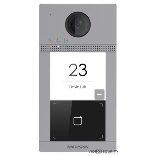 Hikvision DS-KV8113-WME1 Egylakásos IP video-kaputelefon kültéri egység kártyaolvasóval IR-megvilágítás WiFi 12 VDC/PoE