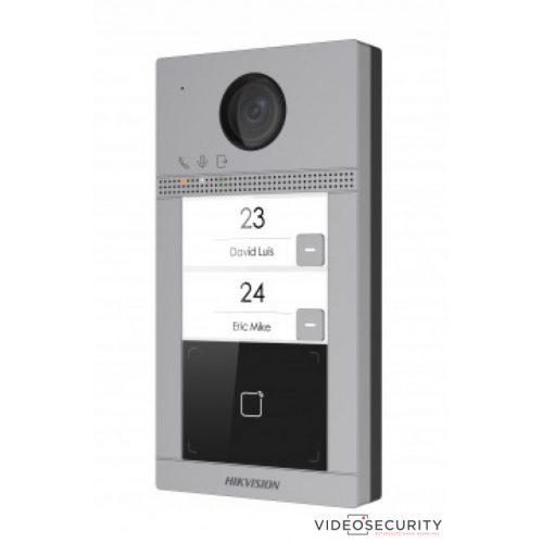 Hikvision DS-KV8213-WME1/Flush Kétlakásos IP video-kaputelefon kültéri egység kártyaolvasóval IR-megvilágítás WiFi 12VDC/PoE