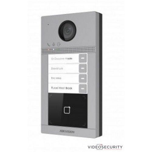Hikvision DS-KV8413-WME1 Négylakásos IP video-kaputelefon kültéri egység kártyaolvasóval IR-megvilágítás WiFi 12VDC/PoE