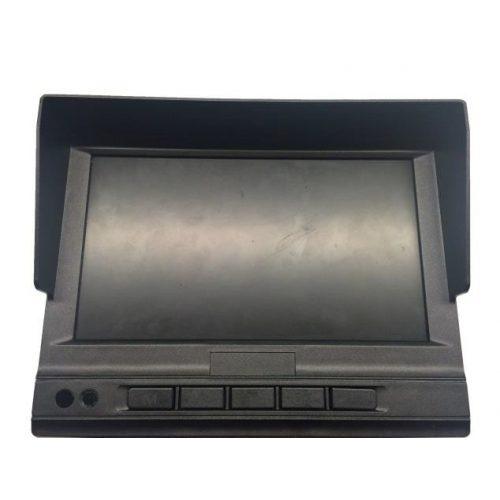 """7"""" LCD monitor; mobil rögzítőhöz; 3 videojel és 2 alarm bemenet"""